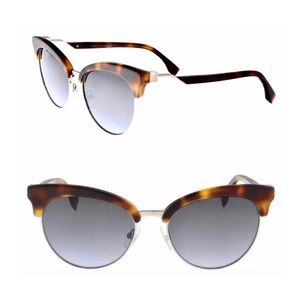 Fendi FF 0229/S 86 Dark Havana Eyewear Sunglasses